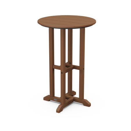 """Traditional 24"""" Round Counter Table in Teak"""