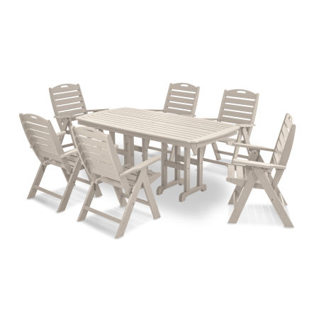 Nautical 7-Piece Dining Set in Sand