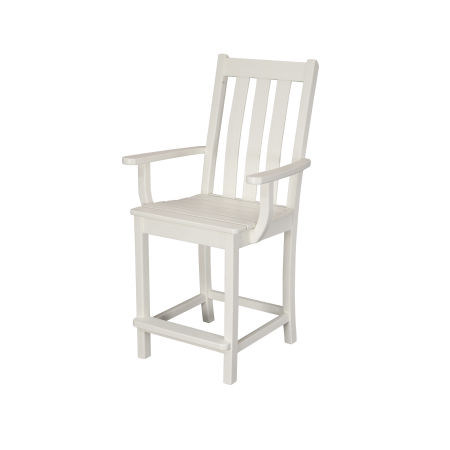 Vineyard Counter Arm Chair in Vintage White