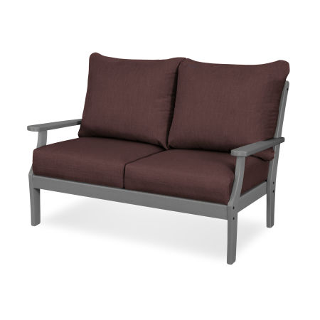 Braxton Deep Seating Settee in Slate Grey / Cast Currant