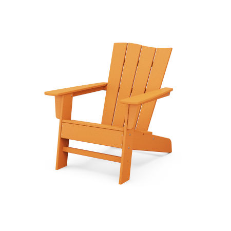 The Wave Chair Left in Tangerine