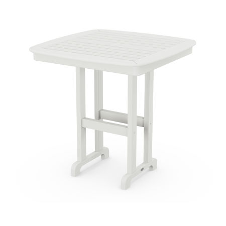 """Nautical 37"""" Counter Table in Vintage White"""