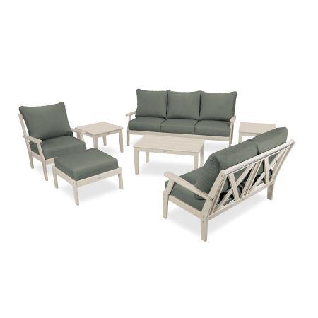 Braxton 7-Piece Deep Seating Set in Sand / Cast Sage