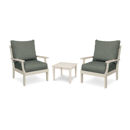 Braxton 3-Piece Deep Seating Set in Sand / Cast Sage