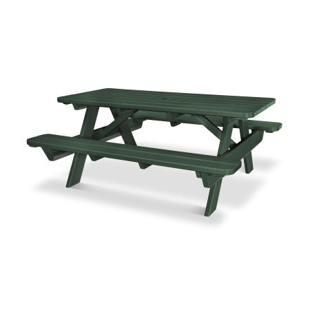 """Park 72"""" Picnic Table in Green"""