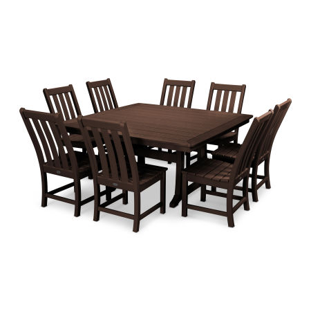 Vineyard 9-Piece Dining Set in Mahogany