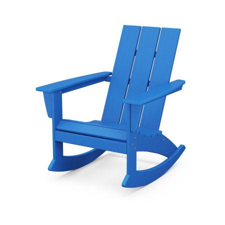 Modern Adirondack Rocking Chair in Pacific Blue