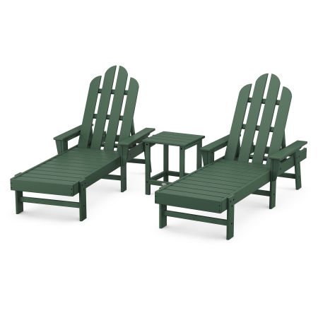 Long Island Chaise 3-Piece Set in Green