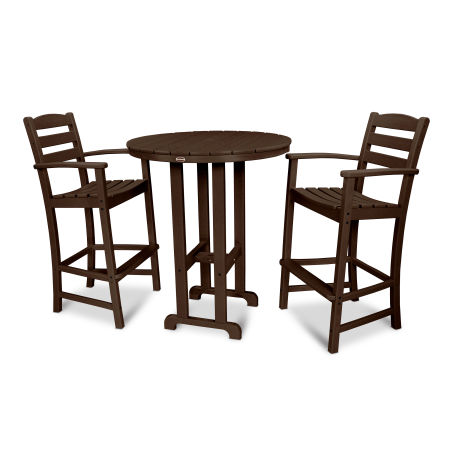La Casa Café 3-Piece Bar Set in Mahogany