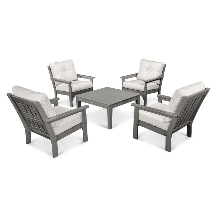 Vineyard 5-Piece Deep Seating Conversation Set