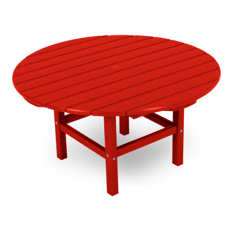 "Round 38"" Conversation Table in Sunset Red"