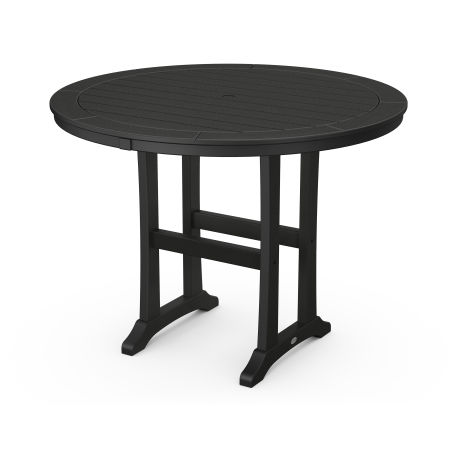 """48"""" Round Counter Table in Black"""