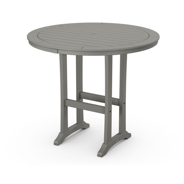 "Nautical Trestle 48"" Round Bar Table"