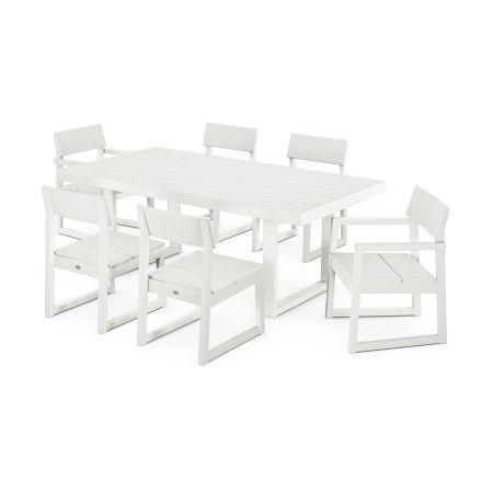 EDGE 7-Piece Dining Set in Vintage White
