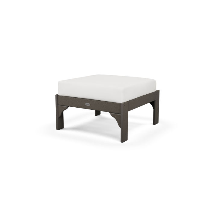 Vineyard Deep Seating Ottoman in Vintage Finish
