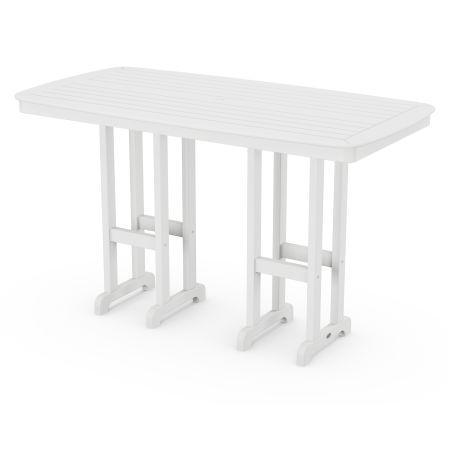 "Nautical 37"" x 72"" Bar Table in White"