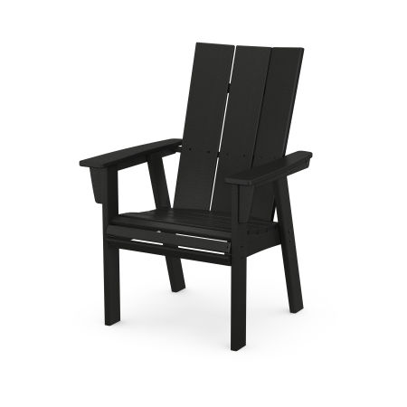 Modern Adirondack Dining Chair in Black