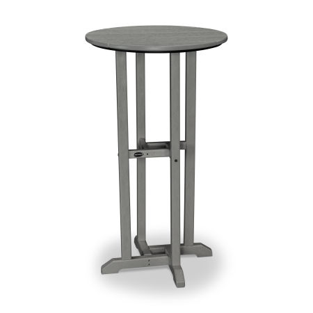 "24"" Round Bar Table in Slate Grey"