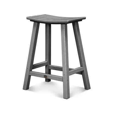 "Traditional 24"" Saddle Counter Stool"