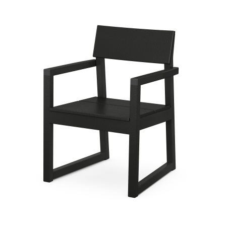 EDGE Dining Arm Chair in Black
