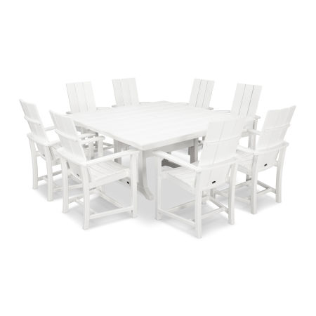 Adirondack 9-Piece Farmhouse Dining Set in White