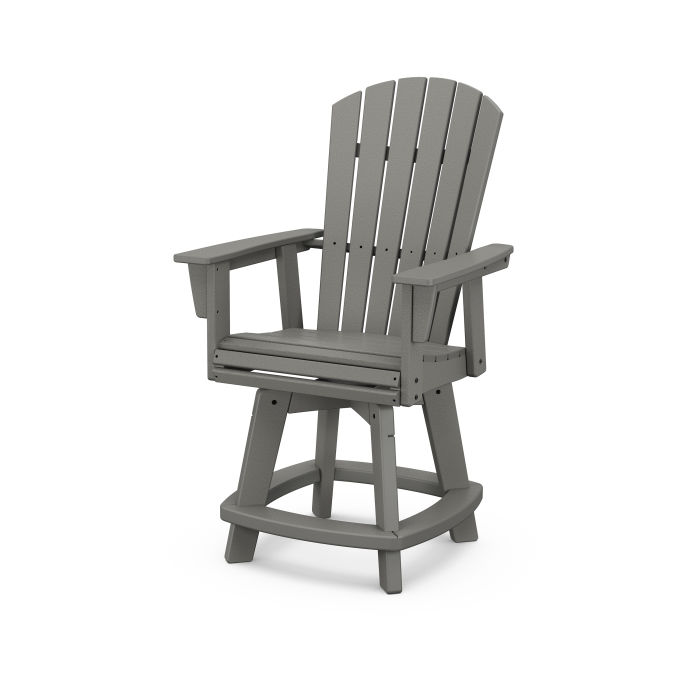 Nautical Curveback Adirondack Swivel Counter Chair