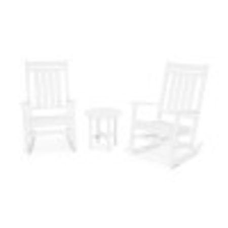 Estate 3-Piece Rocking Chair Set in White