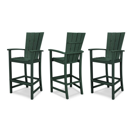 Quattro 3-Piece Bar Set in Green