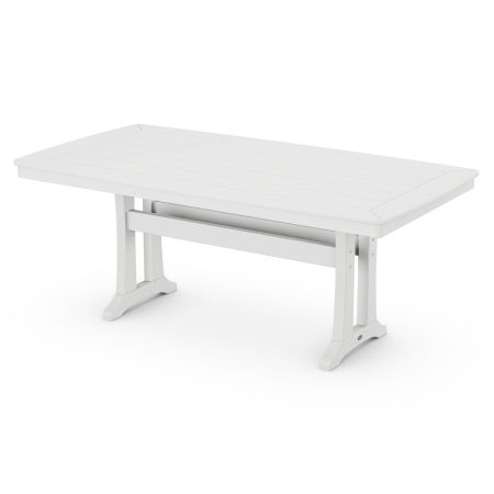 "38"" x 73"" Dining Table in White"