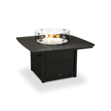 """Nautical 42"""" Fire Pit Table in Black"""