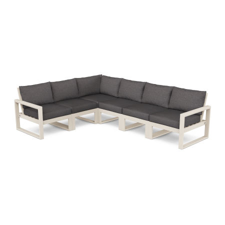 EDGE 6-Piece Modular Deep Seating Set in Sand / Ash Charcoal