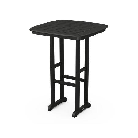 "Nautical 31"" Bar Table in Black"