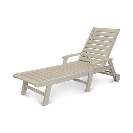Signature Chaise with Wheels in Sand