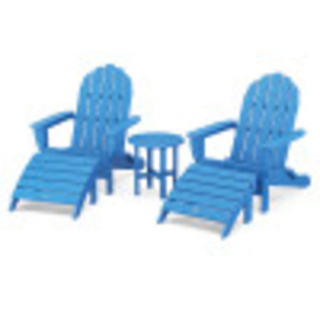 Classic Oversized Adirondack 5-Piece Casual Set in Pacific Blue