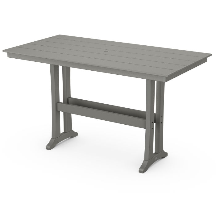 "Farmhouse Trestle 37"" x 72"" Bar Table"