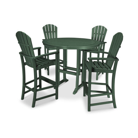 5 Piece Palm Coast Bar Set in Green