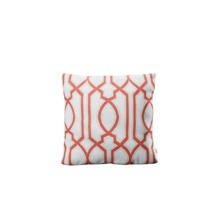 "16"" Outdoor Throw Pillow by POLYWOOD® in Chelsey Trellis Coral"
