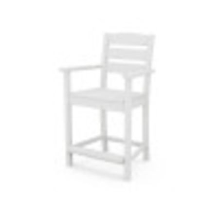 Lakeside Counter Arm Chair in White