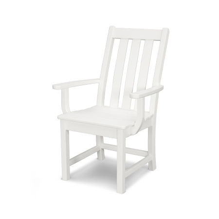 Vineyard Dining Arm Chair in White