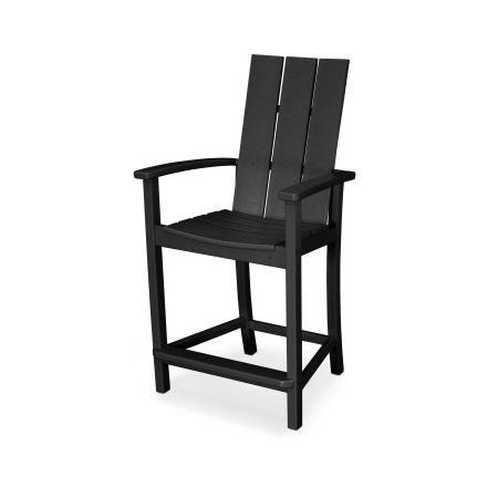 Modern Adirondack Counter Chair in Black