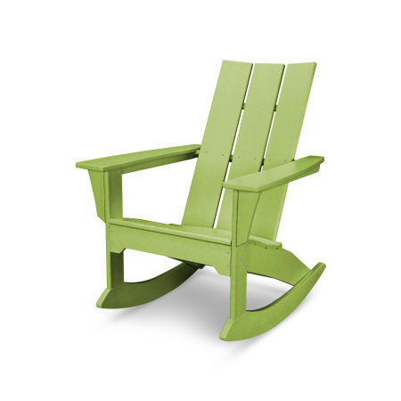 Modern Adirondack Rocker in Lime