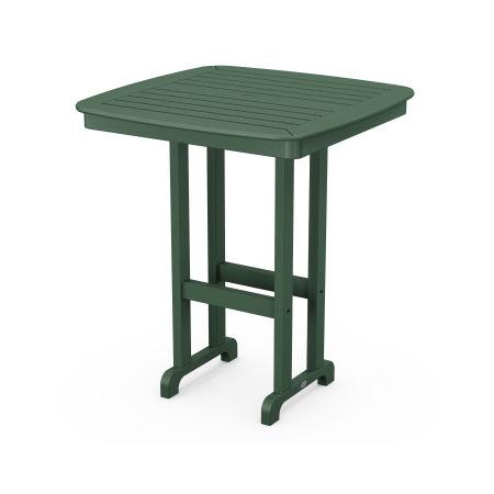 "Nautical 37"" Bar Table in Green"