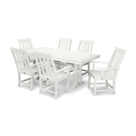 Vineyard 7-Piece Dining Set in White