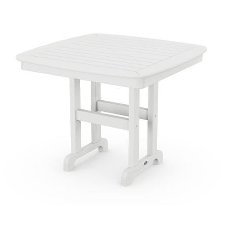 """Nautical 37"""" Dining Table in White"""