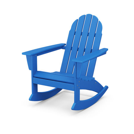 Vineyard Adirondack Rocking Chair in Pacific Blue