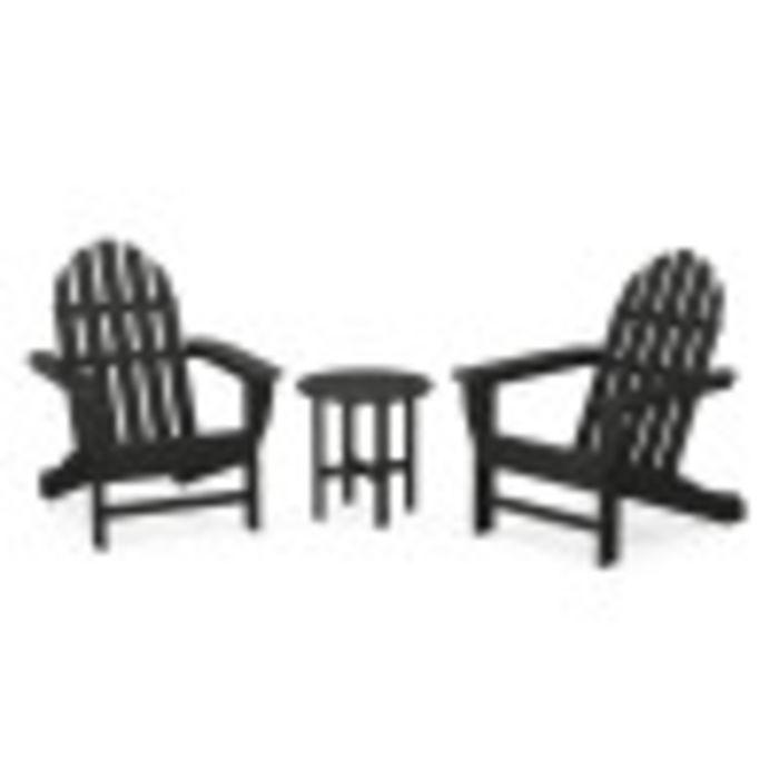 Classic Adirondack 3-Piece Set in Black