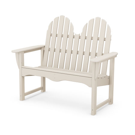 "Classic Adirondack 48"" Bench in Sand"