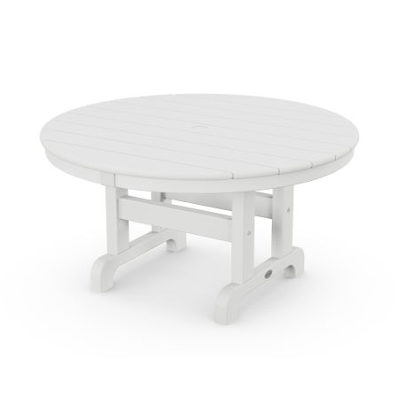 """Round 36"""" Conversation Table in White"""