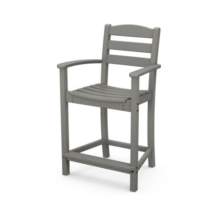 La Casa Café Counter Arm Chair in Slate Grey
