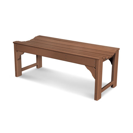 "Traditional Garden 48"" Backless Bench in Teak"